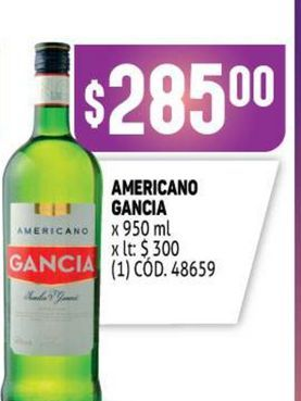 Oferta de Aperitivos Gancia por $285