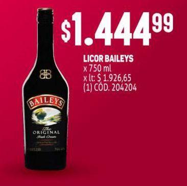 Oferta de Licor Baileys por $1444,99