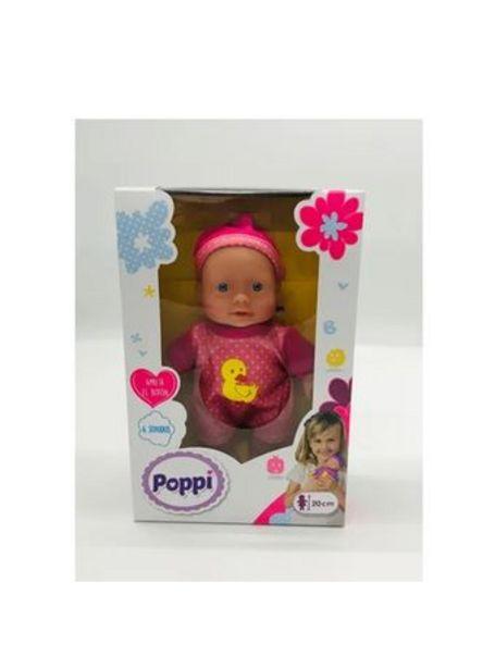 Oferta de Bebote Poppi Con 6 Sonidos 20CM Pato Amarillo por $2150