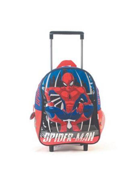 "Oferta de Mochila Spiderman Fight Azul/Rojo Reforzada Carro 12"" por $2990"