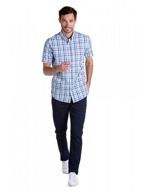 Oferta de Camisa Manga Corta a Cuadros Entallada por $2399