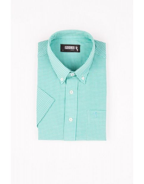 Oferta de Camisa Manga Corta a Cuadros por $1299