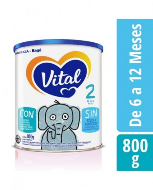 Oferta de Vital 2 Leche Formula Lactea En Polvo Lata 800 gr por $1399