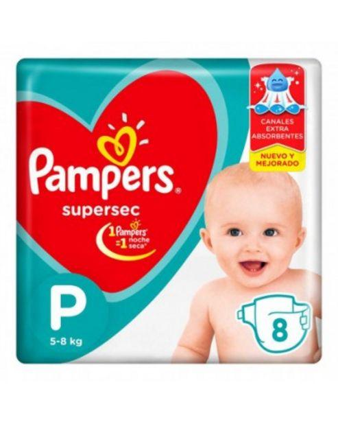 Oferta de Panales Pampers Supersec P 8 Unidades por $237,99