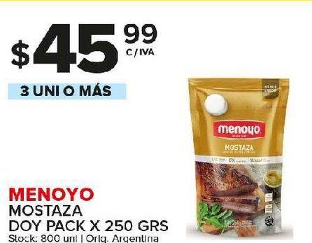 Oferta de Mostaza Menoyo por $45,99