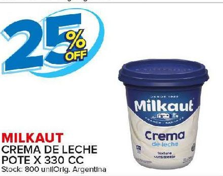 Oferta de Crema de leche Milkaut por