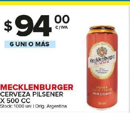 Oferta de Cerveza Meckelenburger por $94