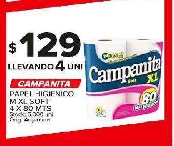 Oferta de Papel higiénico Campanita por $129