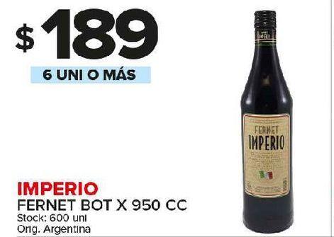 Oferta de Fernet Imperio 950cc por $189