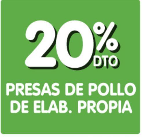 Oferta de Presas de pollo x kg -20% por