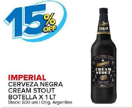 Oferta de Cerveza negra Imperial por