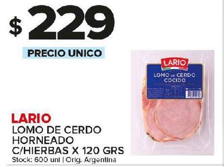 Oferta de Lomo de cerdo Lario 120g por $229