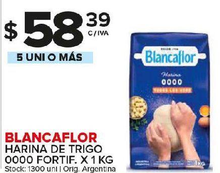 Oferta de Harina de trigo Blancaflor kg por $58,39