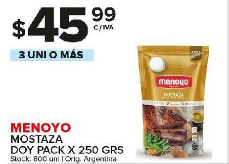 Oferta de Mostaza Menoyo 250g por $45,99