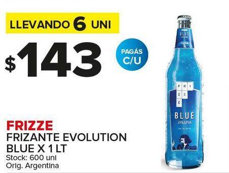 Oferta de Frizzé Frizante evolution blue litro por $143