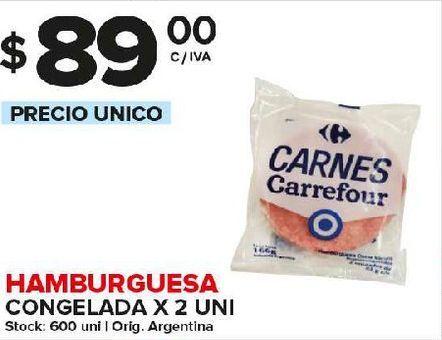 Oferta de Hamburguesas x 2 unidades por $89