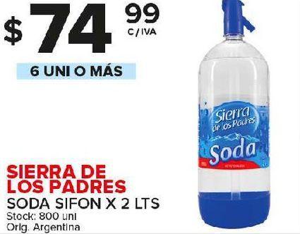 Oferta de Agua con gas Sierra de los Padres por $74,99