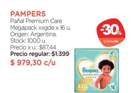 Oferta de Pañal Premium Care Megapack xxgde x 16 u. por $979,3