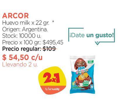 Oferta de Huevo milk x 22 gr. por $54,5