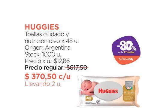 Oferta de Toallas cuidado y nutrición óleo x 48 u. por $370,5