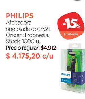 Oferta de Afeitadora one blade qp 2521. por $4175,2