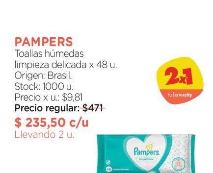 Oferta de Toallas húmedas limpieza delicada x 48 u. por $235,5
