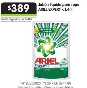 Oferta de Jabón líquido para ropa ARIEL EXPERT x 1.4 lt por $389