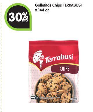 Oferta de Galletitas Chips TERRABUSI x 144 gr por