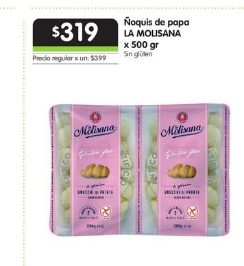 Oferta de Ñoquis de papa LA MOLISANA x 500 gr por $319
