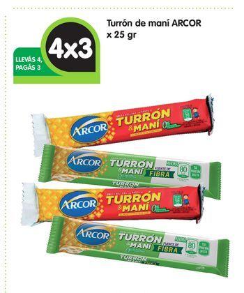 Oferta de Turrón de maní ARCOR x 25 gr por