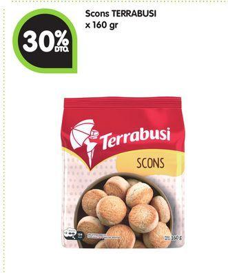 Oferta de Scons TERRABUSI x 160 g -30% por