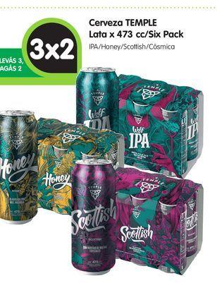 Oferta de Cerveza TEMPLE Lata x 473 cc/Six Pack por
