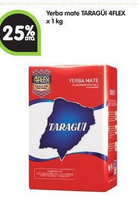 Oferta de Yerba mate TARAGÜI 4FLEX x 1 kg -25% por