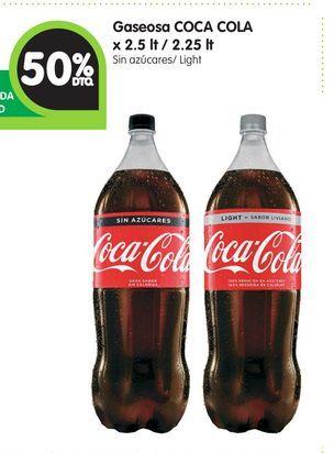 Oferta de Gaseosa COCA COLA x 2.5 lt / 2.25 lt por