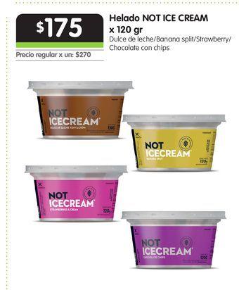 Oferta de Helado NOT ICE CREAM x 120 gr por $175