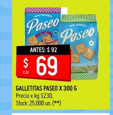 Oferta de GALLETITAS PASEO X 300 G por $69