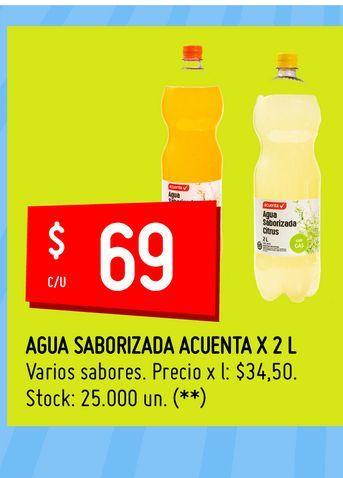 Oferta de Agua Saborizada Acuenta x 2 L  por $69