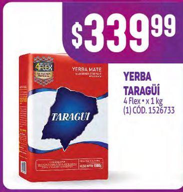 Oferta de Yerba mate Taraguí kg por $339,99
