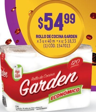 Oferta de Rollo de cocina Garden x 3 por $54,99
