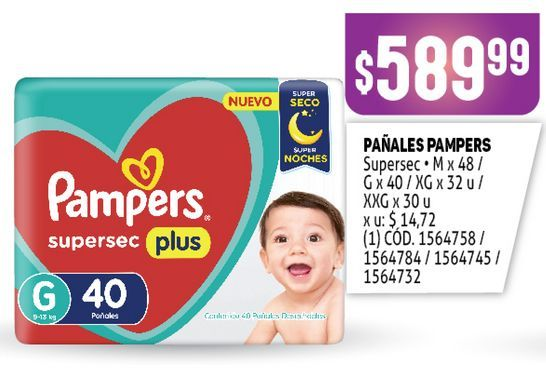 Oferta de Pañales Pampers por $589,99