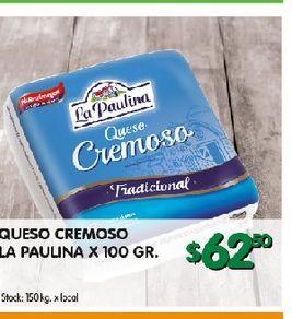 Oferta de Queso cremoso La paulina por $62,5